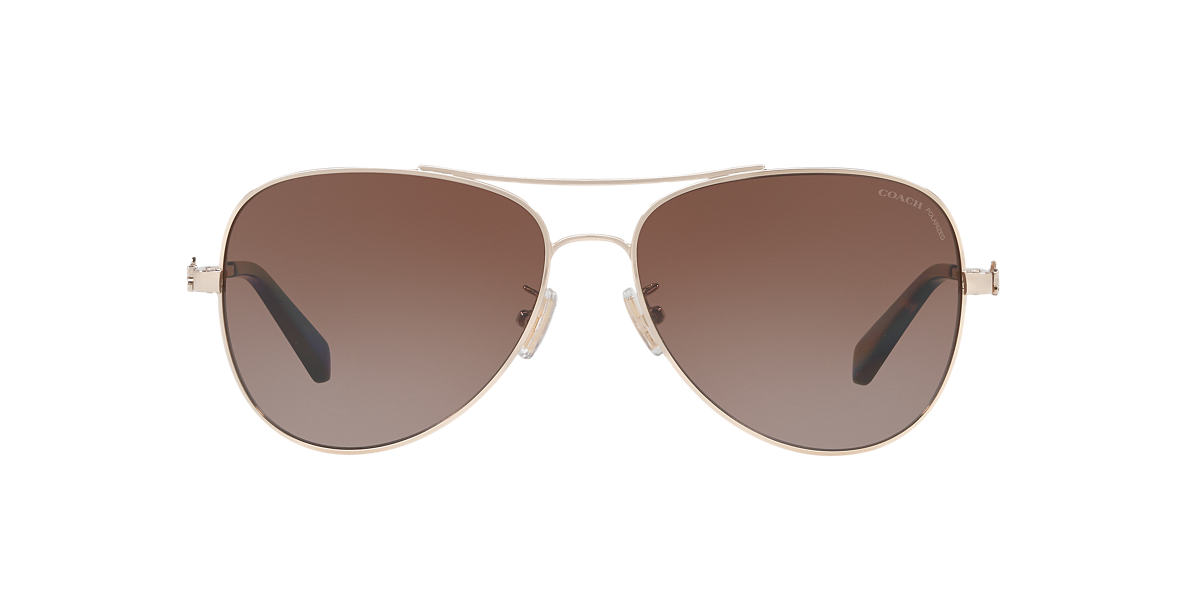 COACH HC7074 931013 AVIATOR Brown Gradient