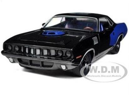 พรีออเดอร์ รถเหล็ก รถโมเดล US 1971 PLYMOUTH HEMI CUDA ฉลอง 75 ปี Mopar สีน้ำเงิน สเกล 1:24
