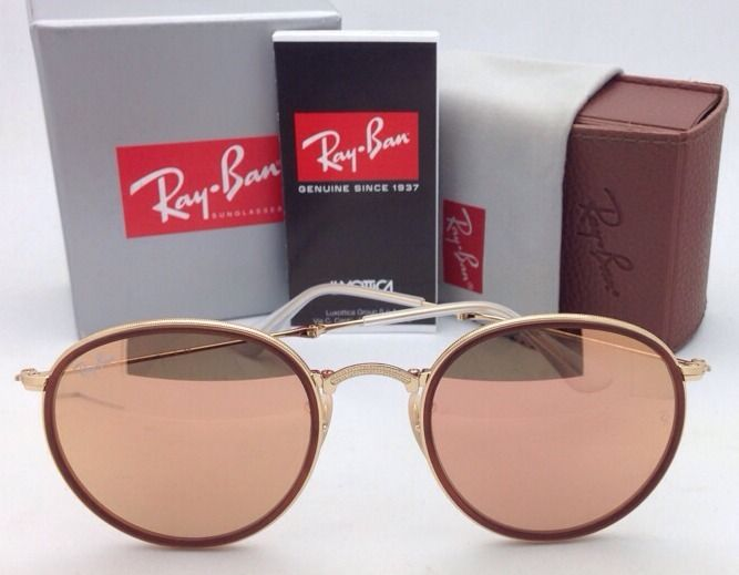 Ray-Ban RB3517 001/Z2 Round Folding Pink Mirror