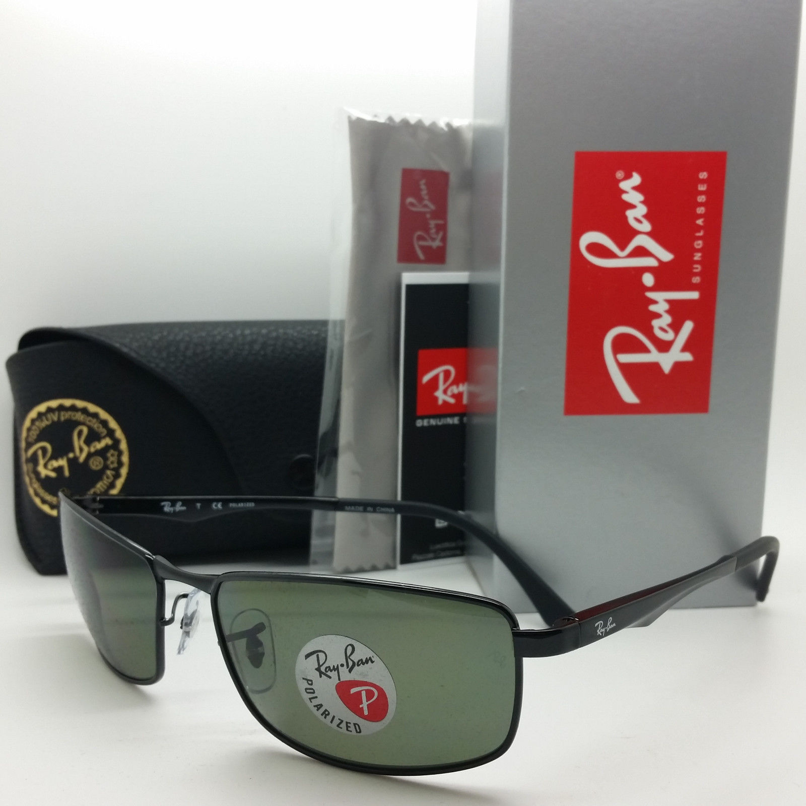 Ray Ban RB3498 002/9A Polarized Grey Black