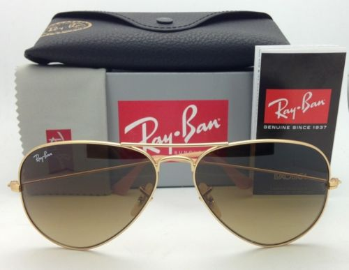 Ray Ban Aviator RB3025 112/85 Matte Gold Brown Gradient