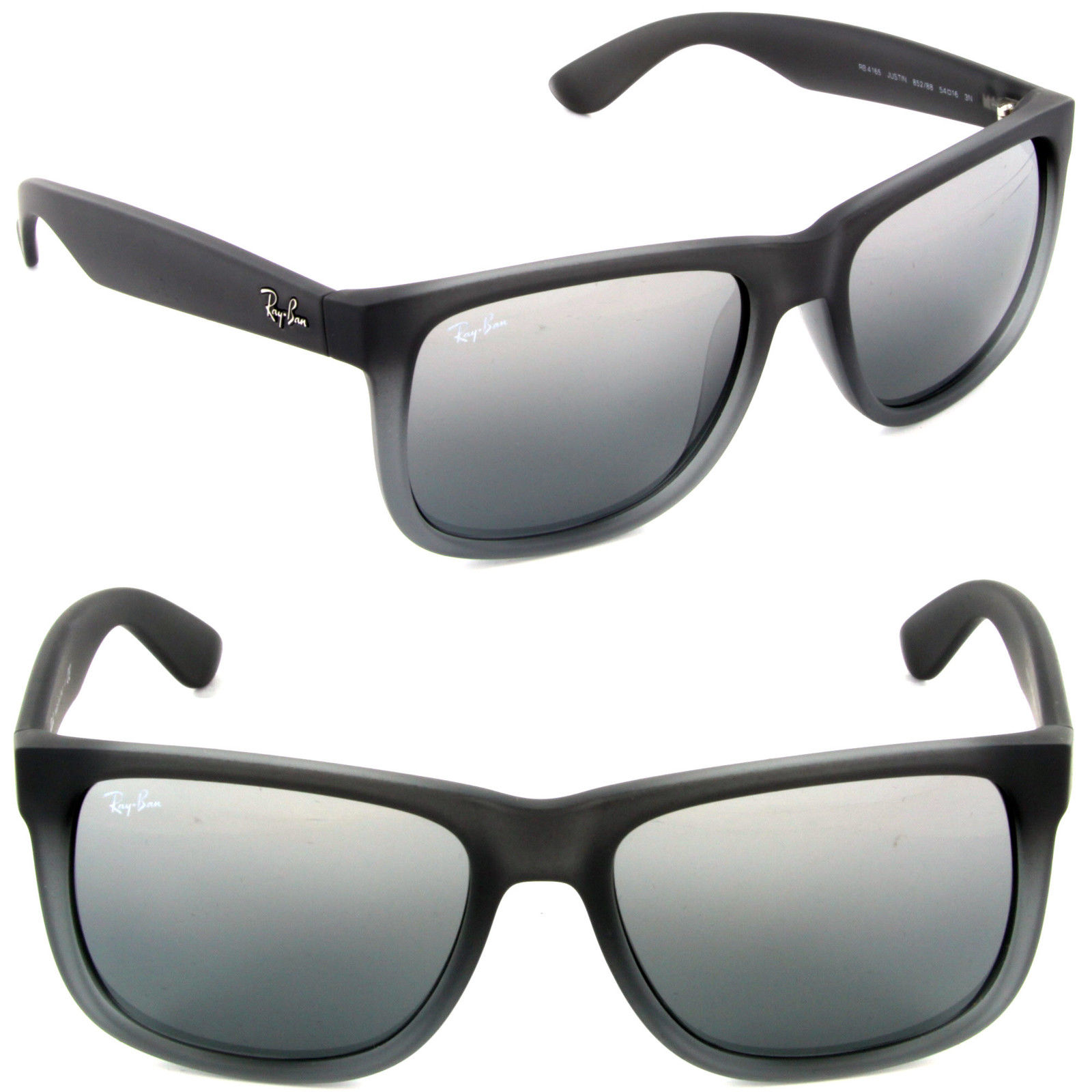 9553bf3cc9cf4 Ray Ban RB4165 852 88 Justin Rubber grey transp   Inspired by ...