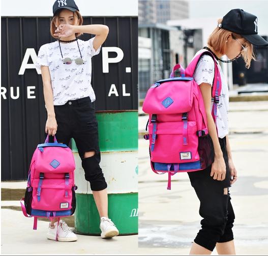 กระเป๋าเป้แฟชั่น MCJH MIKE DESIGNS (สีชมพู)