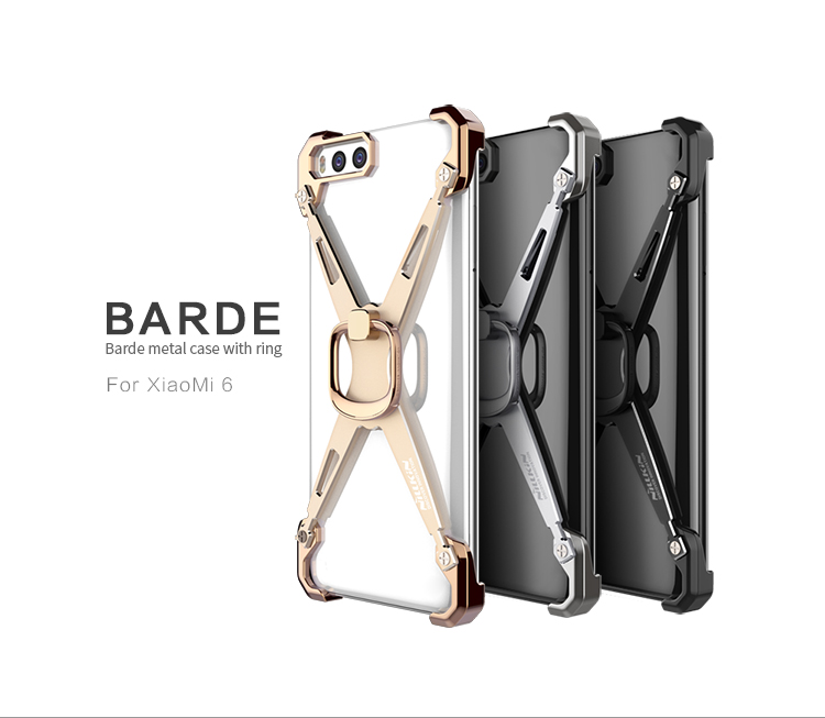 เคส Xiaomi Mi6 Nillkin รุ่น Barde Metal Case With Ring
