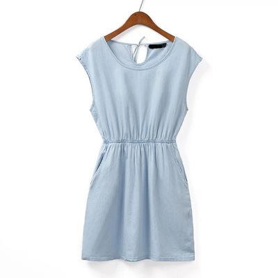 **พรีออเดอร์** ชุดเดรสผู้หญิงแฟชั่นยุโรปใหม่ แขนกุดจัมพ์เอว แบบเก๋ เท่ห์ / **Preorder** New European Fashion Round Neck Sleeveless with Pocket Dress