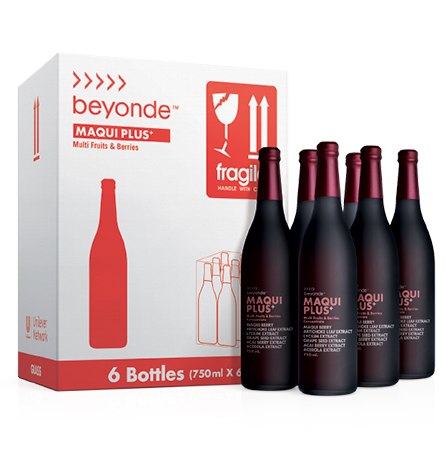 Beyonde Maqui Plus (Pack of 6) บียอนด์ มากิพลัส เครื่องดื่มผลไม้สกัดเข้มข้น จากผลมากิและผลไม้รวม