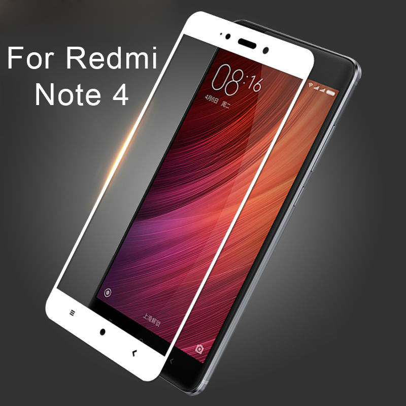 Xiaomi Redmi Note 4 ฟิล์มกระจกนิรภัยเต็มจอ 9H+ บาง 0.33mm (ขอบขาว)