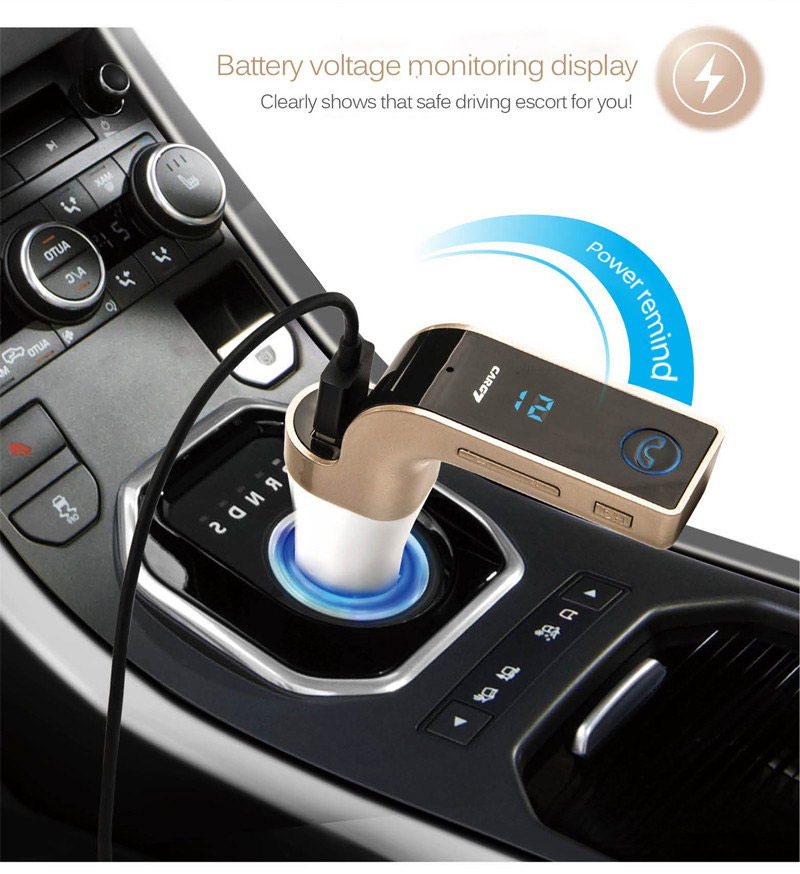 Car-Bluetooth CarG7 Bluetooth FM Transmitter ตัวรับสัญญาณบลูทูธในรถยนต์เชื่อมต่อกับวิทยุ FM ในรถ
