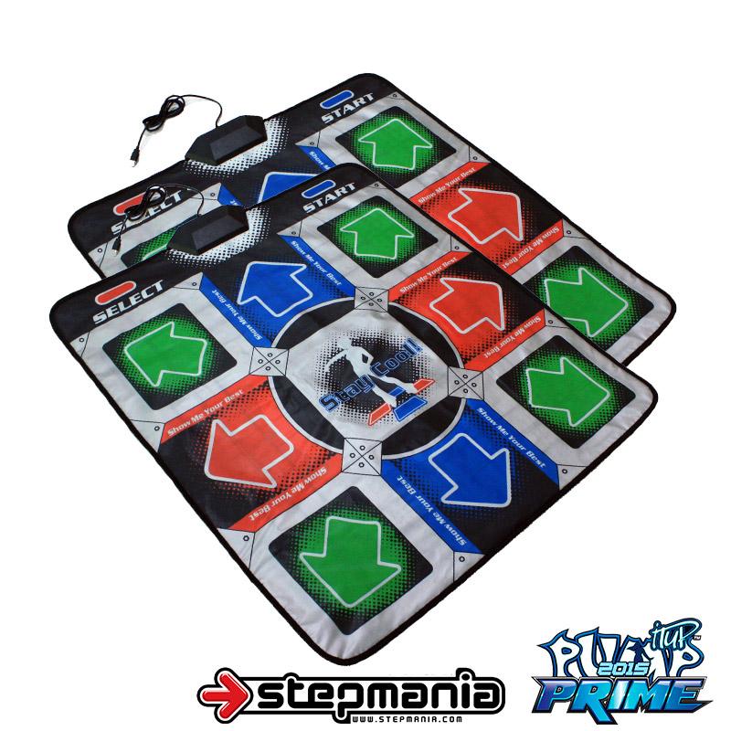 แผ่นเต้นต่อคอมพิวเตอร์รุ่นใหม่ 11 Key Function (v2) มีปุ่มกลางเล่น Pump it up จำนวน 2 แผ่นสำหรับเล่นคู่ (สีเทา)