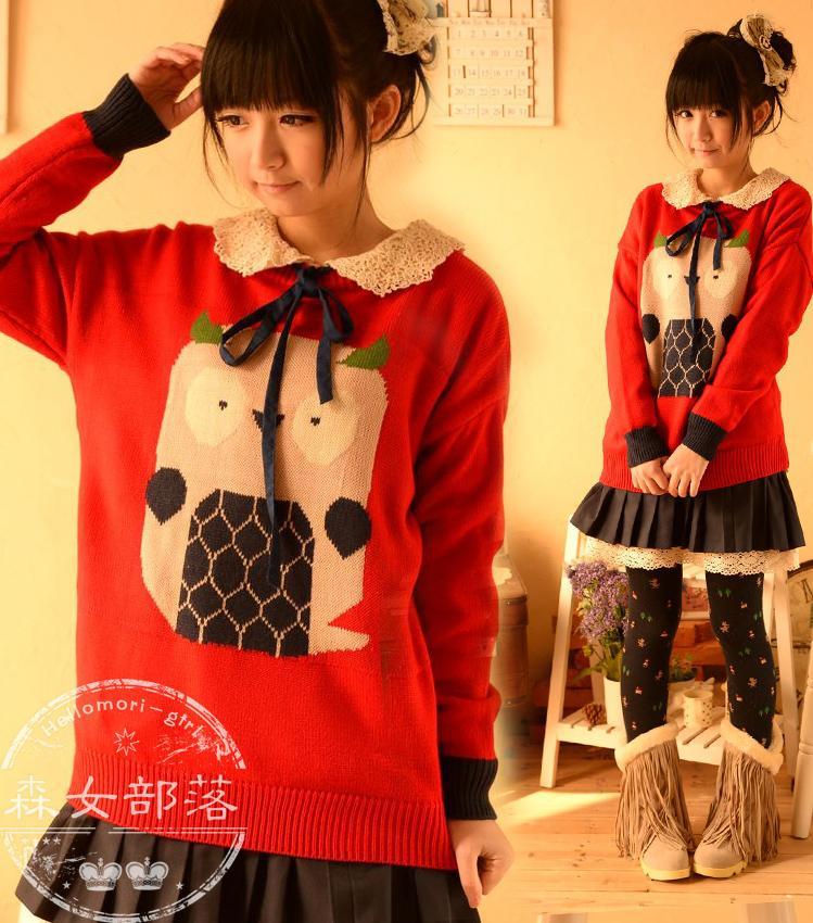 พรีออเดอร์ เสื้อกันหนาววัยรุ่นผู้หญิงสำหรับอายุ 18 -24 ปี แฟชั่นญี่ปุ่นใหม่ แขนยาว แบบเก๋ เท่ห์ - Preorder New Japanese Fashion Long-sleeved Sweater for Female age 18 24 years