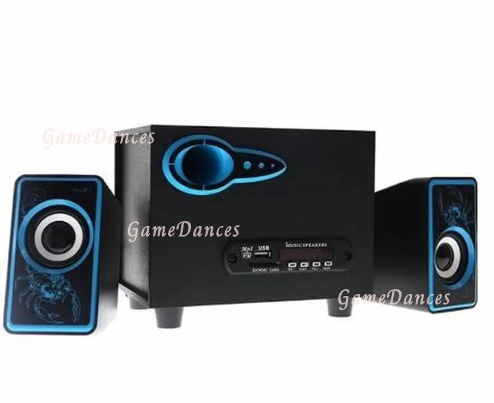 Music D.J. SP-21 ตู้ลำโพงบลูทูธ Bluetooth Speaker 2.1 CH รองรับ FM/AUX/BT 8W+3W x 2