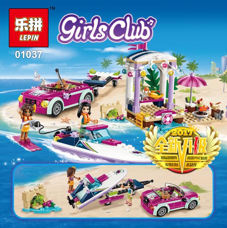 เลโก้จีน LEPIN.01037 ชุด Friends Andrea's Speedboat Transporter