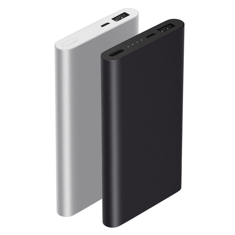 Original Xiaomi Power Bank 10000 mAh version 2 ของแท้ (ฟรีเคสซิลิโคน OEM สีดำ)