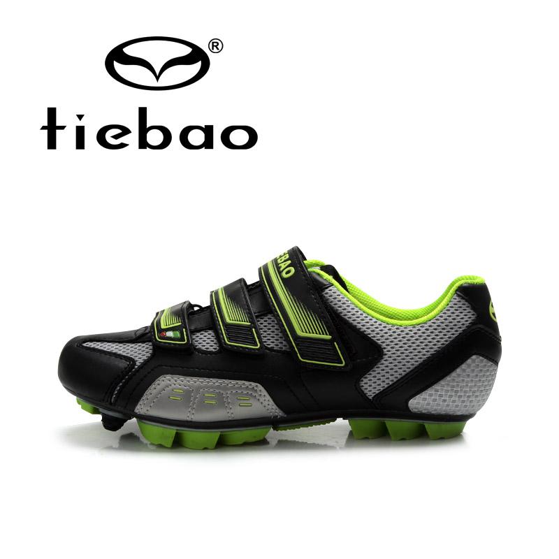 รองเท้าจักรยานเสือภูเขา TIEBAO รุ่น TB15-B943 สีเขียวเทาดำ