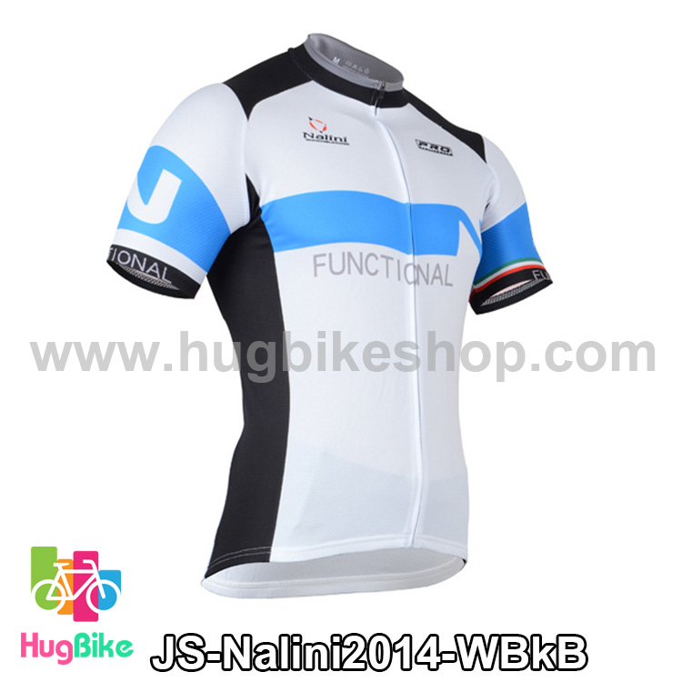 เสื้อจักรยานแขนสั้นทีม Nalini 2014 ขาวดำฟ้า สั่งจอง (Pre-order)