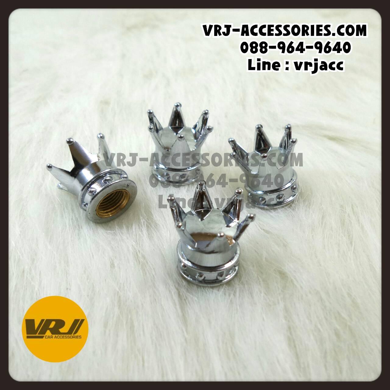 จุกลม มงกุฎ สีเงิน : Car tire valve Stem caps – CROWN