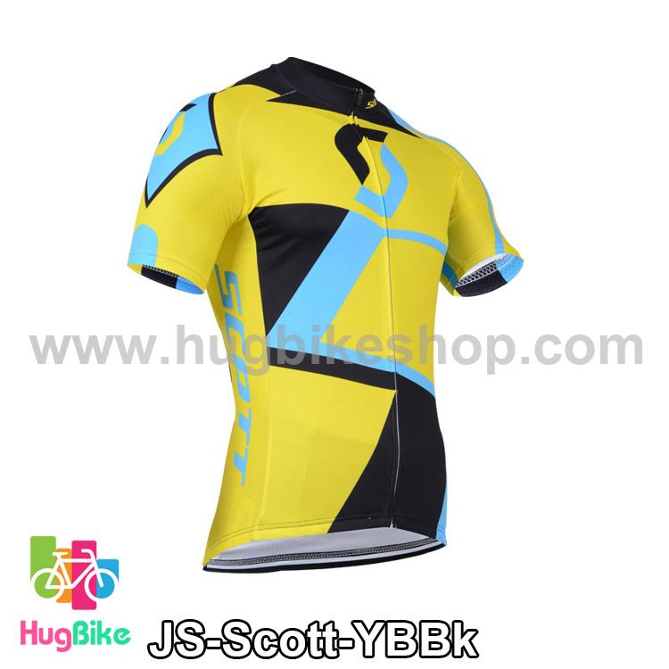 เสื้อจักรยานแขนสั้นทีม Scott 14 (02) สีเหลืองฟ้าดำ สั่งจอง (Pre-order)