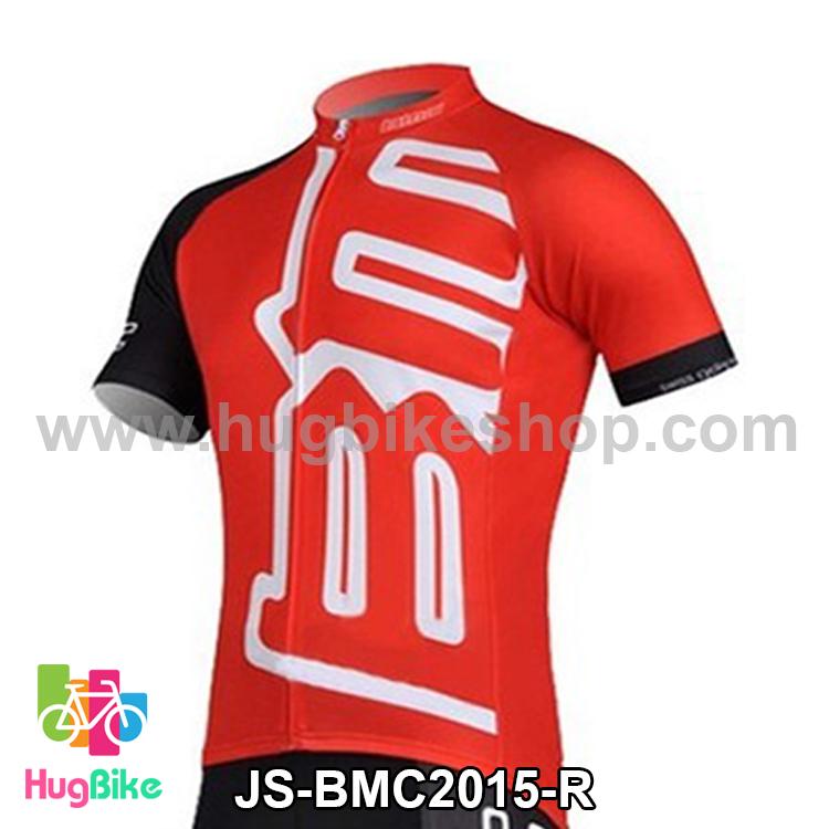 เสื้อจักรยานแขนสั้นทีม BMC 2015 สีแดง สั่งจอง (Pre-order)