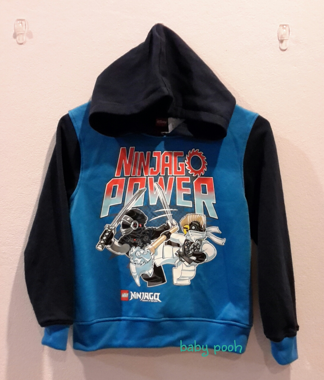 LEGO : เสื้อกันหนาวมีฮูด ลาย Ninja size 6y