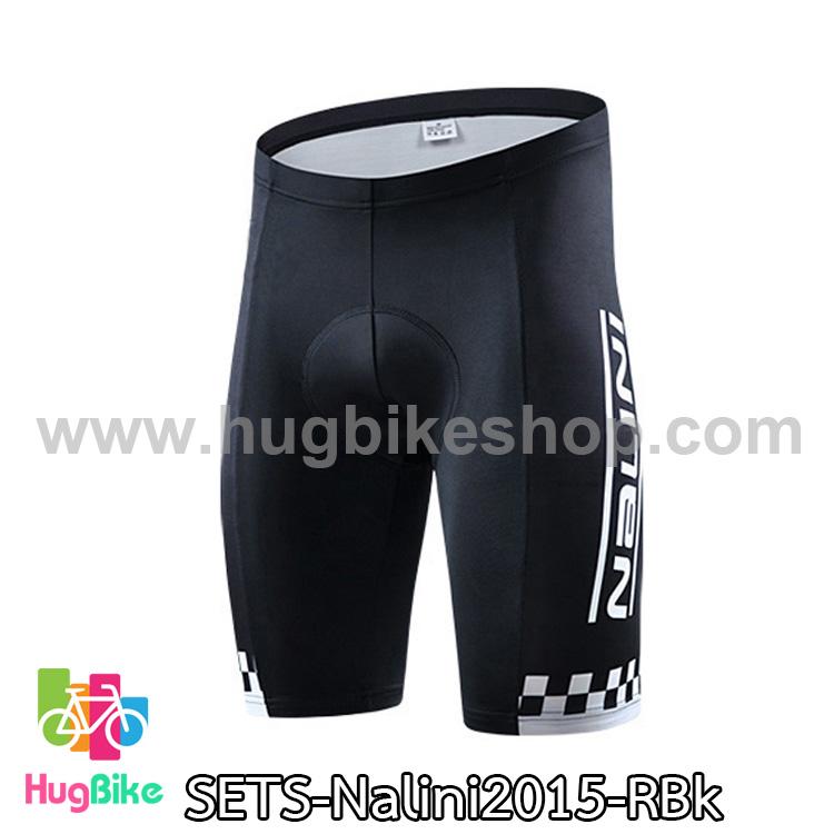 กางเกงจักรยานขาสั้นทีม Nalini 15 สีดำ