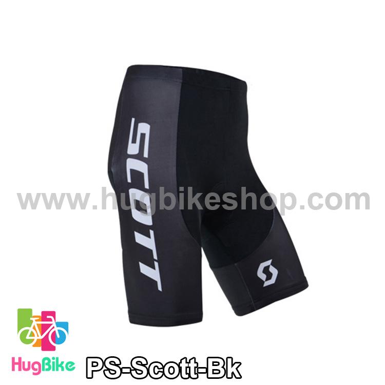 กางเกงจักรยานขาสั้นทีม Scott 14 (01) สีดำ