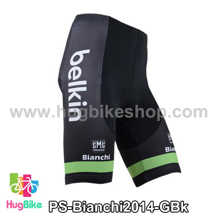 กางเกงจักรยานขาสั้นทีม Bianchi 14 เขียวดำ สั่งจอง (Pre-order)