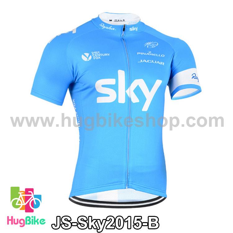เสื้อจักรยานแขนสั้นทีม Sky 2015 สีฟ้า สั่งจอง (Pre-order)