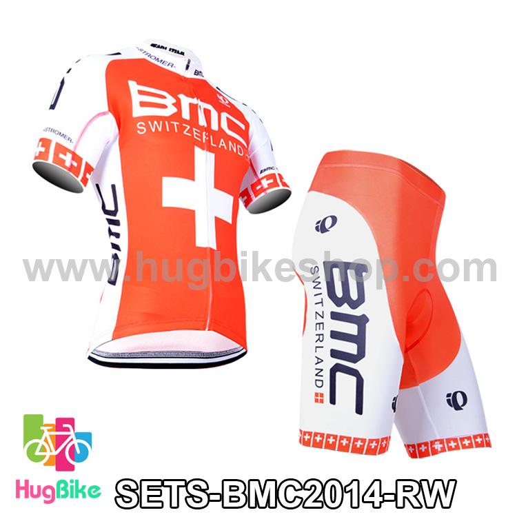 ชุดจักรยานแขนสั้นทีม BMC 14 (02) สีแดงขาว สั่งจอง (Pre-order)