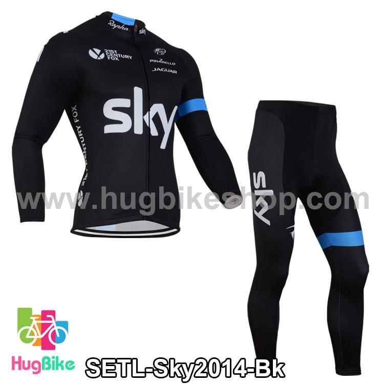 ชุดจักรยานแขนยาวทีม Sky 14 สีดำ สั่งจอง (Pre-order)