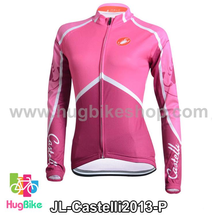 เสื้อจักรยานแขนยาวทีม Castelli 13 สีชมพู สั่งจอง (Pre-order)