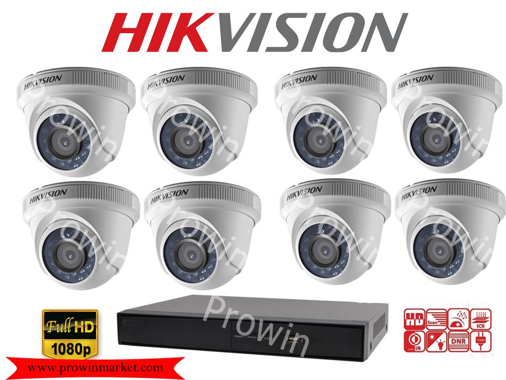 HIKVISION Camera set 8 DS-2CE56D0T-IR x 8 DS-7208HQHI-F2/N x 1