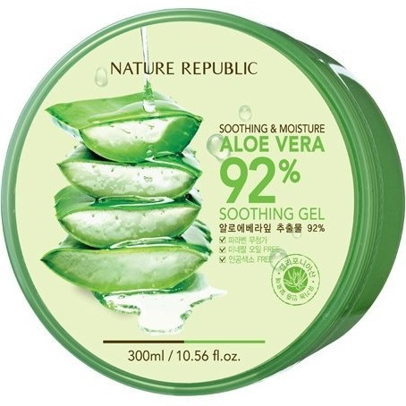++พร้อมส่ง++Nature republic aloe vera 92% soothing gel 300ml