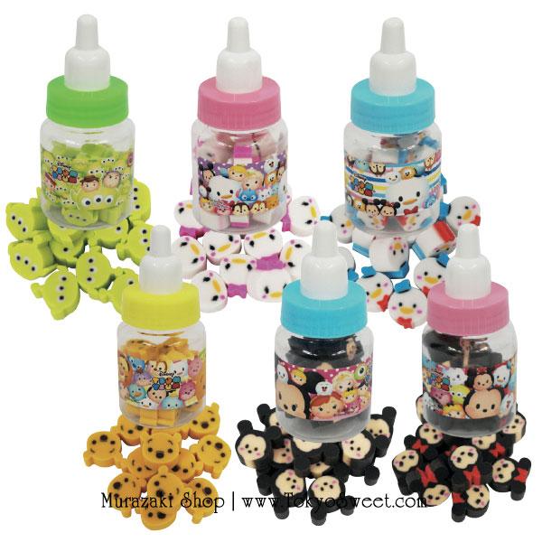 พร้อมส่ง ** Disney TSUM TSUM Fancy Eraser in Baby Bottle ยางลบลายดิสนีย์ซูมซูมในขวดนมสุดน่ารัก มี 6 ลายให้เลือก (ราคานี้เป็นราคา 1 ชิ้น เลือกลายได้ที่ด้านใน)