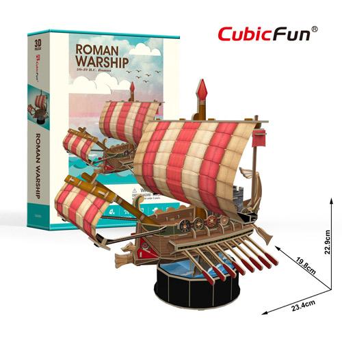 Roman Warship Size 23.4*19.8*22.9 cm. Total 85 pcs.