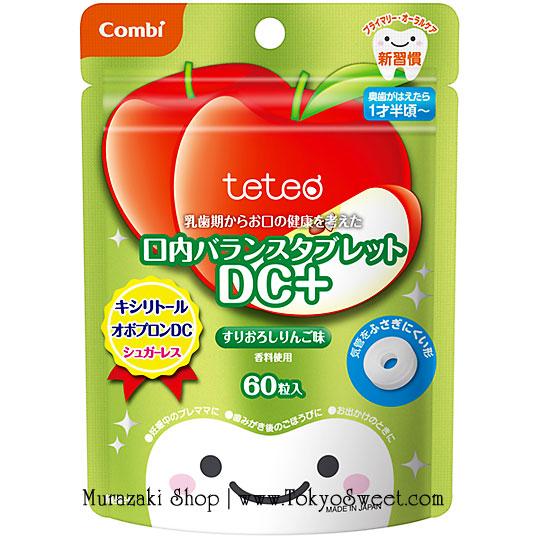 พร้อมส่ง ** Combi teteo Oral Balance Tablet DC+ [Apple] เม็ดอมป้องกันฟันผุรสแอปเปิ้ล บรรจุ 60 เม็ด