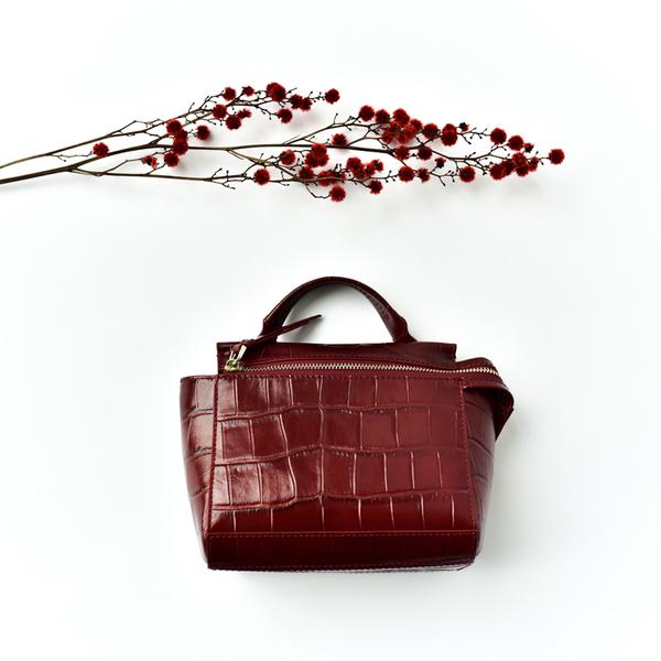 กระเป๋าหนัง รุ่น Cherry ramy Bags (Red)
