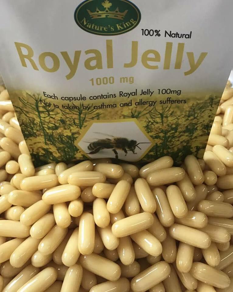 (แบ่งขาย 30 เม็ด) Nature's King Royal Jelly 1,000 mg. นมผึ้ง เนเจอร์ คิง