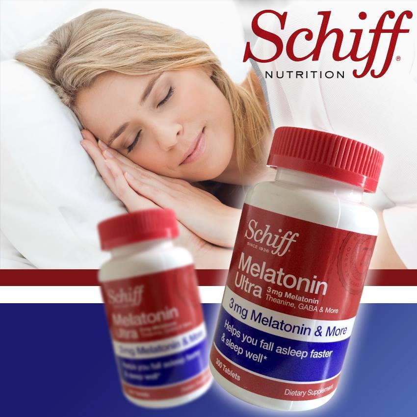 SCHIFF Melatonin Ultra 3 mg. ขนาด 365 เม็ด อาหารเสริมช่วยเรื่องการพักผ่อนและผู้ที่นอนหลับยากคลายเครียด