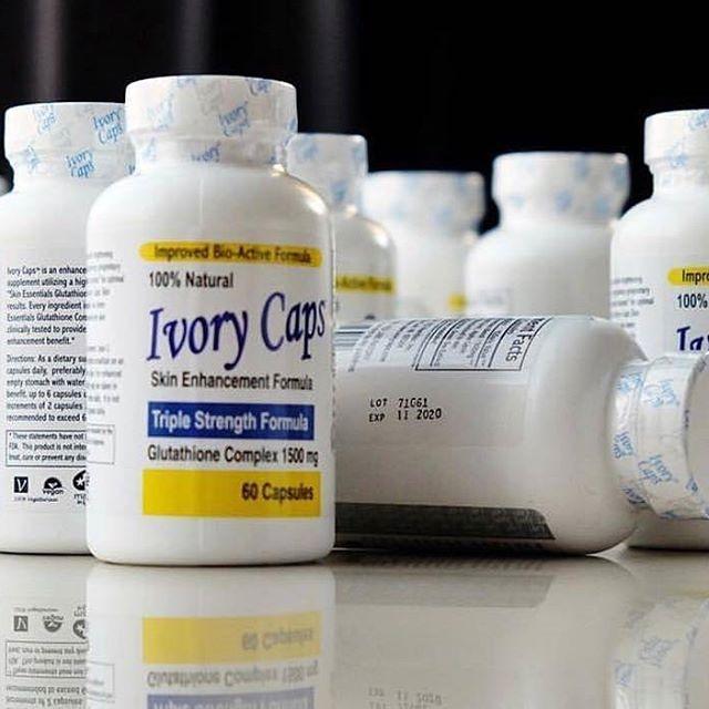 ( 2 ขวด) Ivory Caps 1500 mg กลูต้าไธโอนชนิดเข้มข้น เห็นผลทันใจ ขาวสว่างใสรวดเร็ว ช่วยลดความหมองคล้ำและจุดด่างดำ และป้องกันริ้วรอย ขนาด 60 เม็ด จากอเมริกา