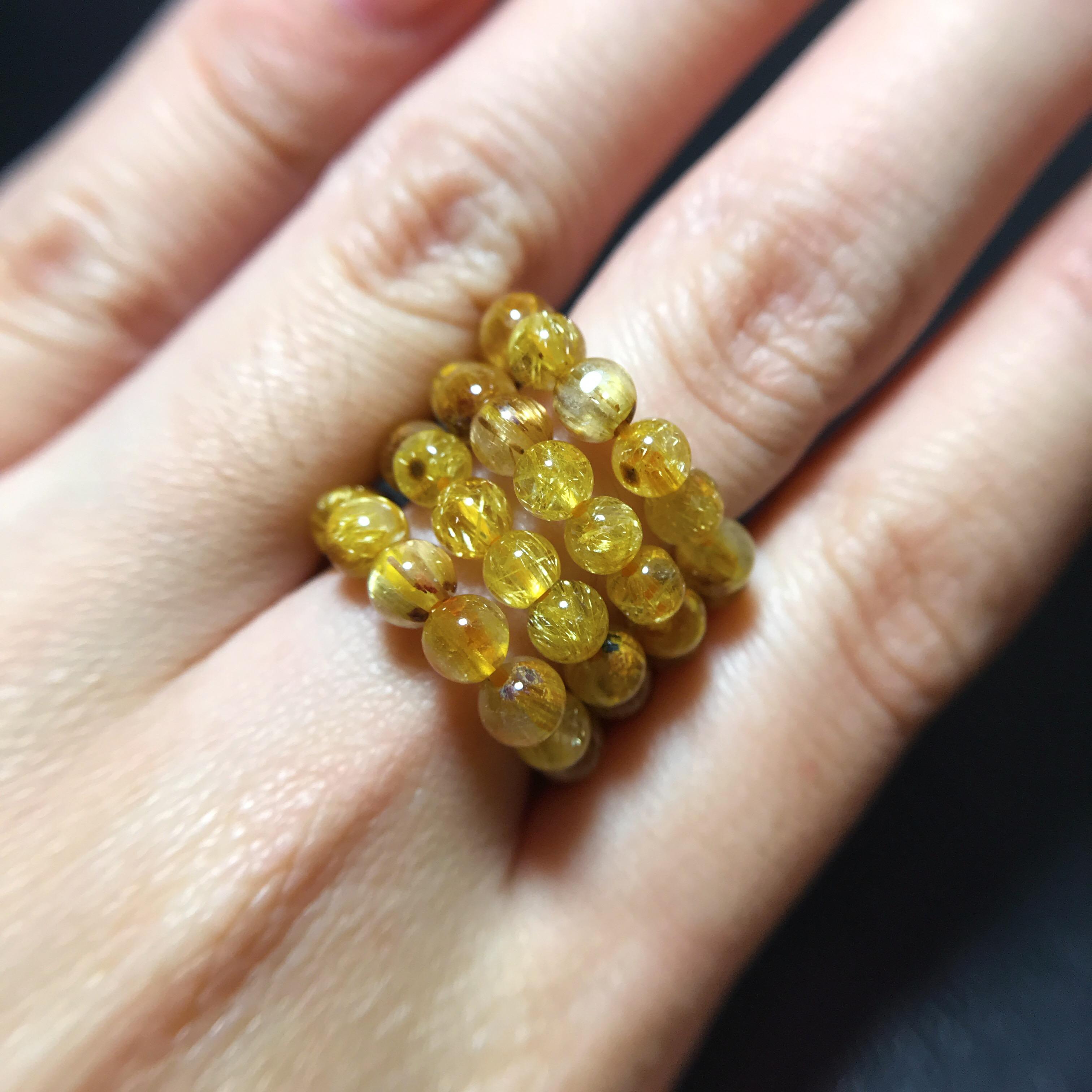 แหวนไหมทอง 4 มิล (Premium)