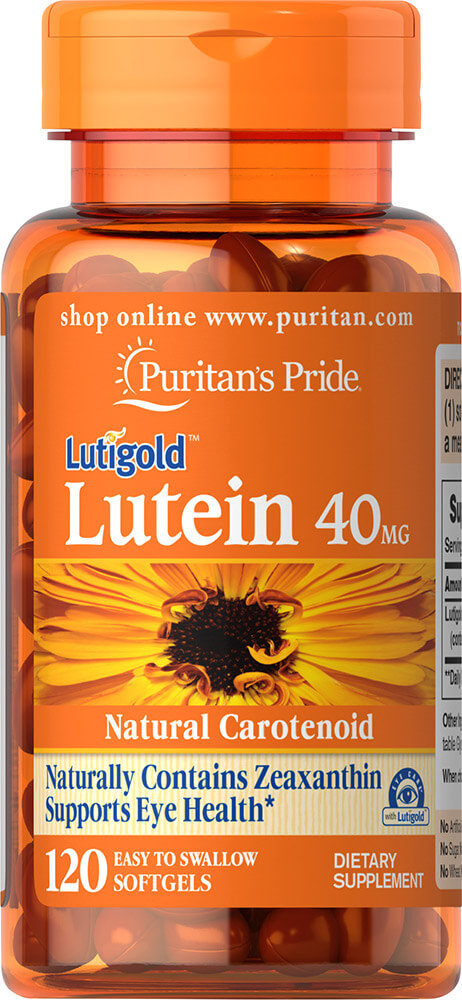 ช่วยการมองเห็น Puritan's Pride Lutein 40 mg with Zeaxanthin / 120 softgels