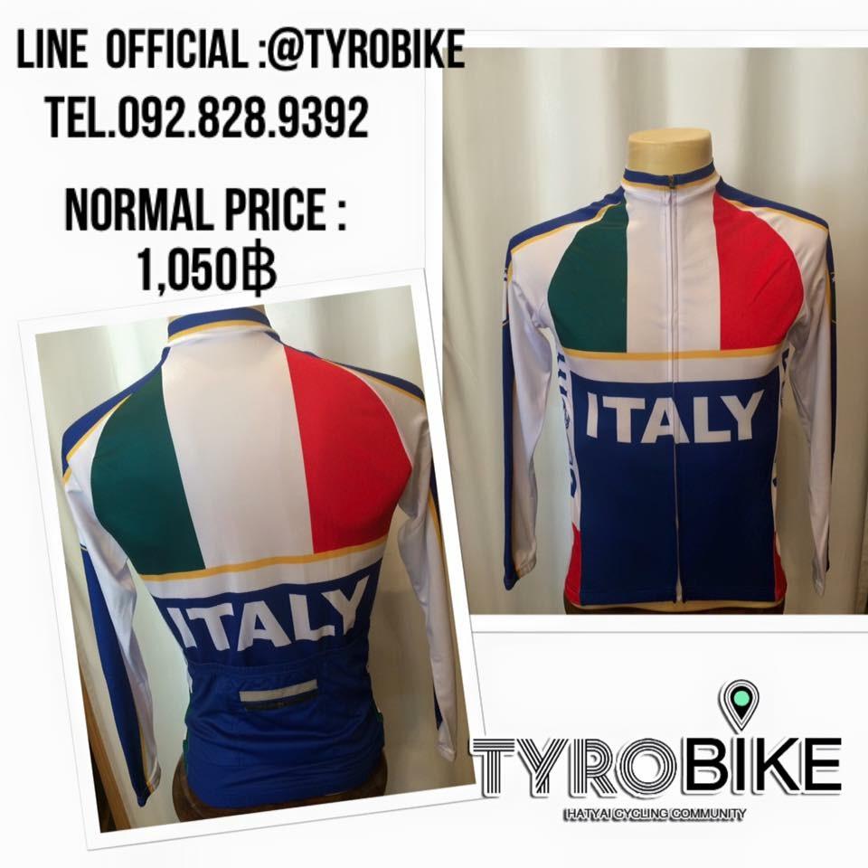 BCR-53 เสื้อปั่นจักรยานลายอิตาลีแขนยาว