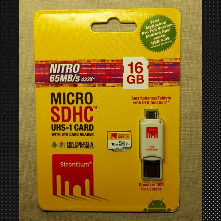 SD card Strontium 16GB 433x Class U1 ของแรง