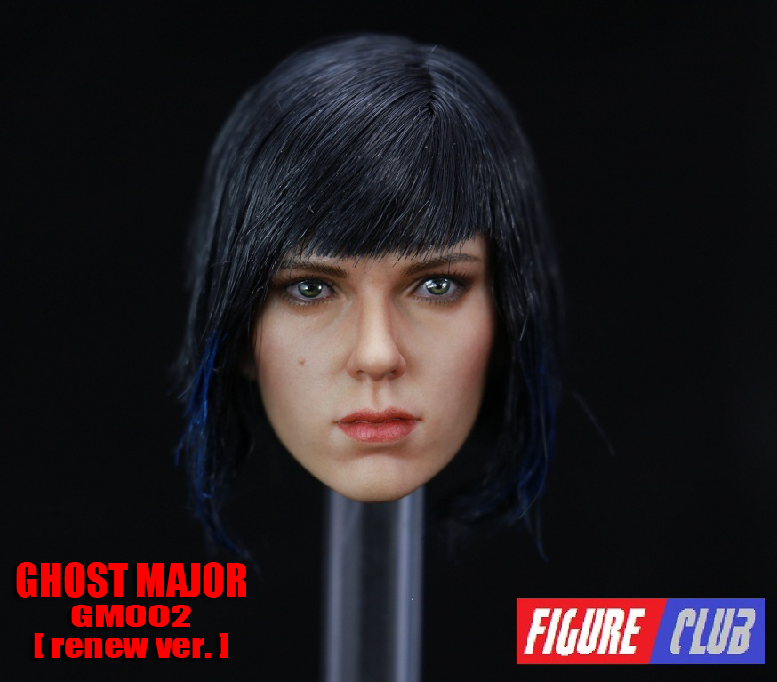Figure Club GM02 Ghost Major - Ghost in the Shell (renew version) Head Sculpt