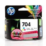 ตลับหมึก HP 704 Color หมึกสี ราคา 340 บาท