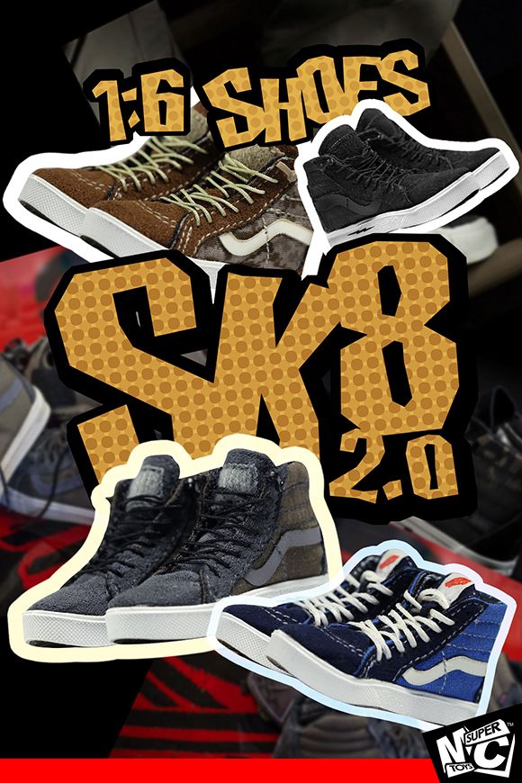 Super MC F-072 1/6 SK8 SHOES 2.0