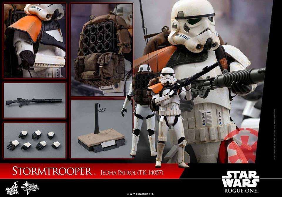 Hot Toys MMS392 ROGUE ONE: A STAR WARS STORY - STORMTROOPER JEDHA PATROL (TK-14057)