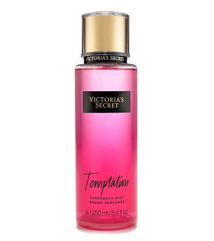 **พร้อมส่ง**Victoria's Secret Fantasies Temptation Fragrance Mist 250 ml. *แพคเกจใหม่ 2016* สเปร์ยน้ำหอม ให้ความหอมรัญจวนใจ กลิ่นติดทนนาน 7-12 ชั่วโมง โทนกลิ่นหอมสดชื่นของแอปเปิ้ลผสมกับกลิ่นดอกไม้หอม ,
