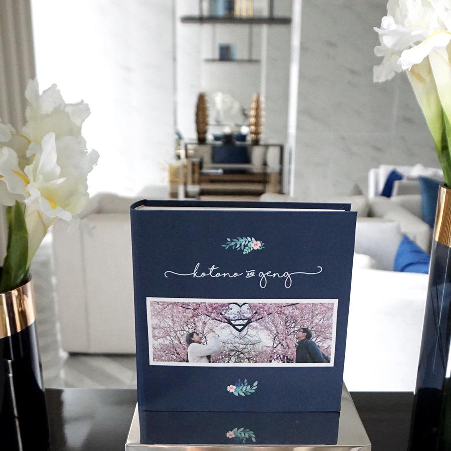 อัลบั้ม 100 รูป (5x7 นิ้ว) Flower - Square Frame - สั่งทำใส่รูปถ่าย