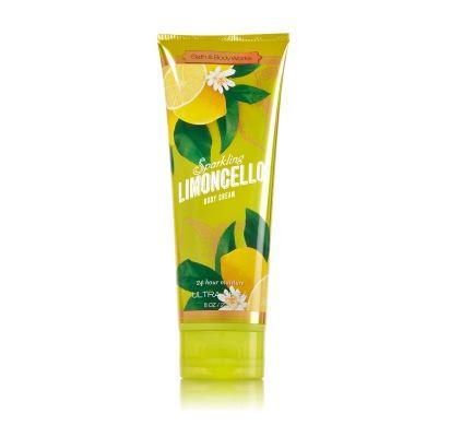 **พร้อมส่ง**Bath & Body Works Sparkling Limoncello 24 Hour Moisture Ultra Shea Body Cream 226g. ครีมบำรุงผิวสุดเข้มข้น เติมความชุ่มชื่นให้กับผิวที่ต้องการการบำรุงเป็นพิเศษอีกทั้งมีกลิ่นหอมเย็นสดชื่น ของมิ้นท์มะนาว ที่ตัดความเปรี้ยวให้หอมนุ่มพอดีกับกลิ ,